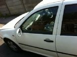 VW GOLF 1.4 S 5DR 16V AHW NSF DOOR WHITE BREAKING PARTS
